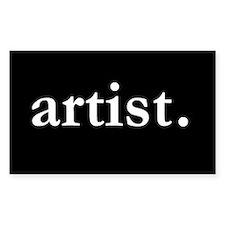 Artist Rectangle Stickers