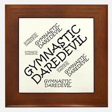 Gymnastics Daredevil Framed Tile