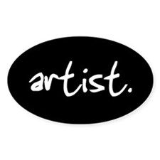 artist. Oval Decal