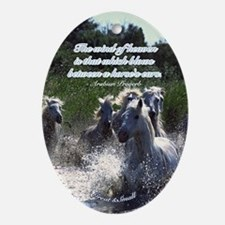 Horses w/ Proverb Oval Ornament