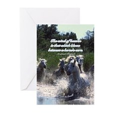 Horses w/ Proverb Greeting Cards (Pk of 20)