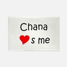 Funny Chana Rectangle Magnet