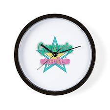 Grammie Aqua Wall Clock