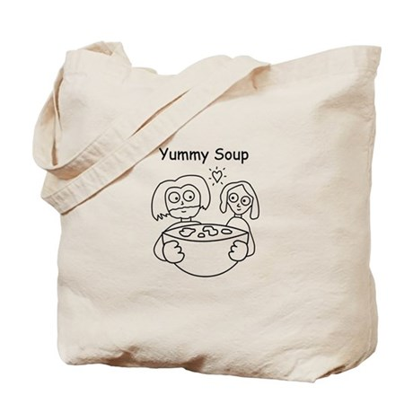 yummy soup Tote Bag