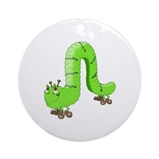 Cute Inch Worm Keepsake (Round)