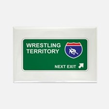 Wrestling Territory Rectangle Magnet