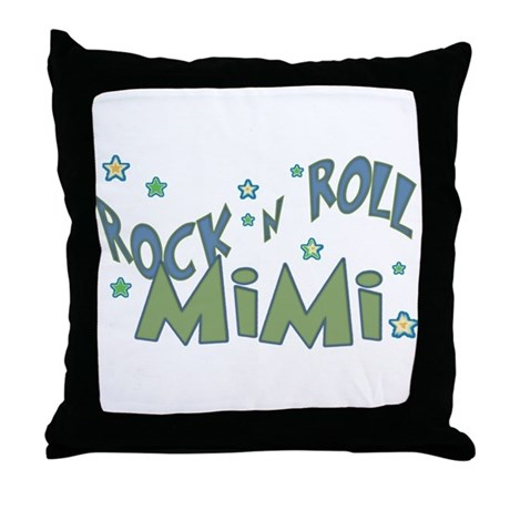 MiMi green Throw Pillow