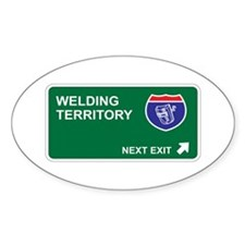 Welding Territory Oval Decal