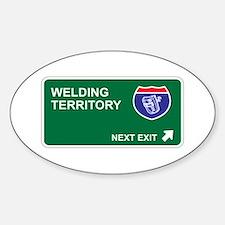 Welding Territory Oval Decal