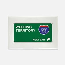Welding Territory Rectangle Magnet