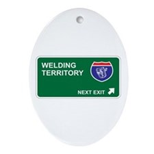 Welding Territory Oval Ornament