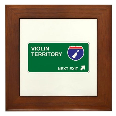 Violin Territory Framed Tile