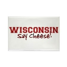 Wisconsin Say Cheese Rectangle Magnet