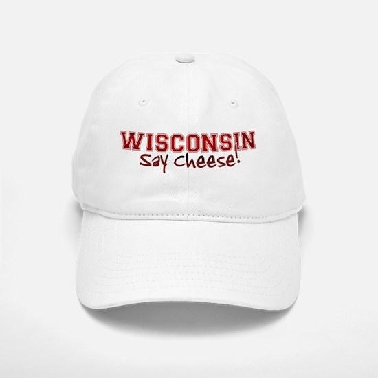Wisconsin Say Cheese Baseball Baseball Cap