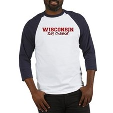 Wisconsin Say Cheese Baseball Jersey