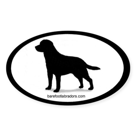 Lab Silhouette Oval Sticker