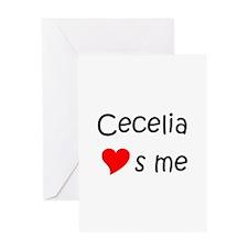 Cecelia Greeting Card