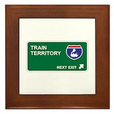 Train Territory Framed Tile
