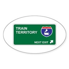 Train Territory Oval Decal
