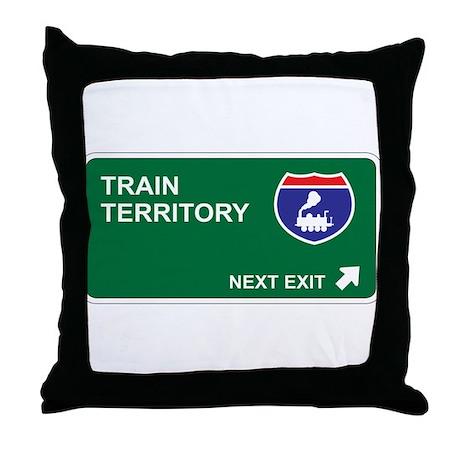 Train Territory Throw Pillow