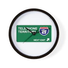 Telephone Territory Wall Clock