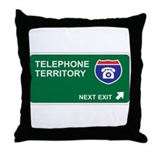 Telephone Territory Throw Pillow