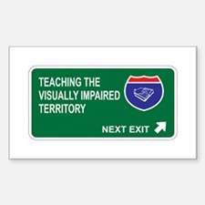 Teaching the, Visually Impaired Territory Decal
