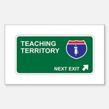 Teaching Territory Rectangle Decal