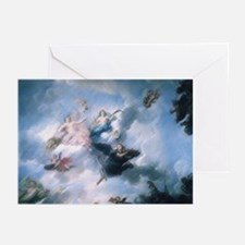 angels in paris, france Greeting Cards (Package of