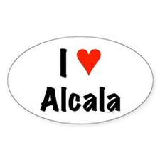 I love Alcala Oval Decal