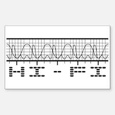 Hi-Fi Rectangle Decal