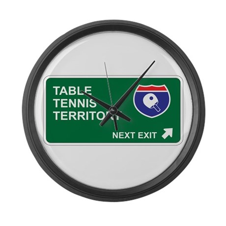Table, Tennis Territory Large Wall Clock