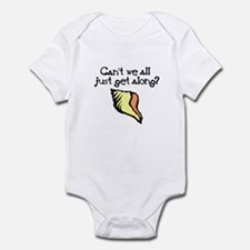 Can't we all just get along? Infant Bodysuit