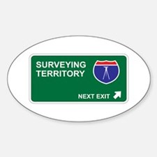 Surveying Territory Oval Decal