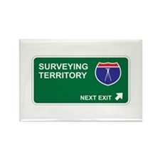 Surveying Territory Rectangle Magnet