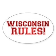Wisconsin Rules Oval Sticker