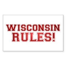 Wisconsin Rules Rectangle Sticker