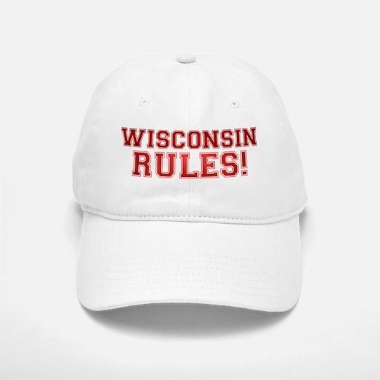 Wisconsin Rules Baseball Baseball Cap