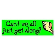 Can't we all just get along? Bumper Car Sticker