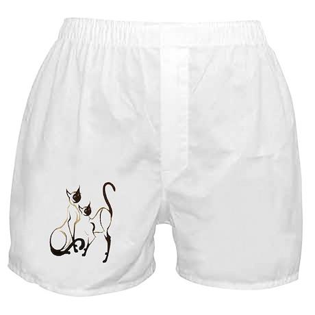 2 Siamese Kitties Boxer Shorts