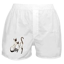2 Siamese Kitties Boxer Shorts