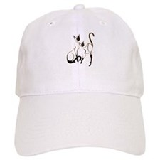2 Siamese Kitties Baseball Baseball Cap