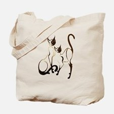 2 Siamese Kitties Tote Bag