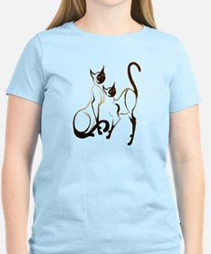 2 Siamese Kitties T-Shirt