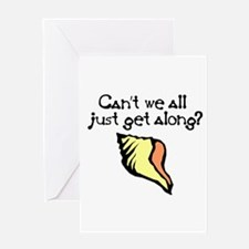 Can't we all just get along? Greeting Card
