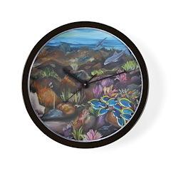 Tropical sea #3 surgeonfish Wall Clock