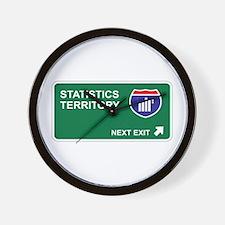 Statistics Territory Wall Clock