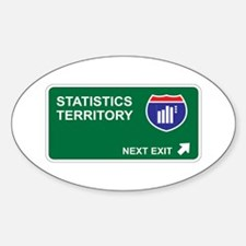Statistics Territory Oval Decal