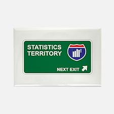Statistics Territory Rectangle Magnet