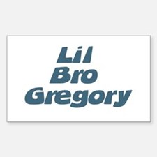 Lil Bro Gregory Rectangle Decal